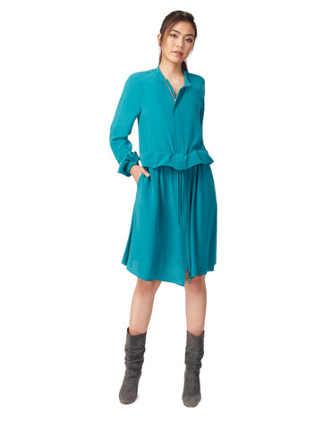 J063B _ FLUME _ Multi-Way Dust-Coat Dress _ Atlantic Teal