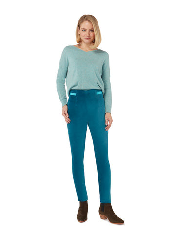 T023 _ BUD _ High-Waist Trousers _ Deep Lake