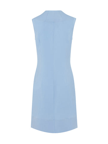 D080B _ STAMEN _ Sleeveless Silk Shift _ Bluebell