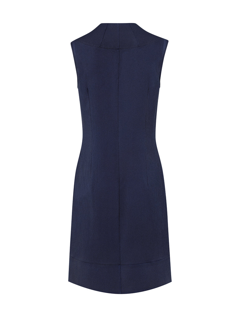 D080B _ STAMEN _ Sleeveless Silk Shift _ Twilight Blue