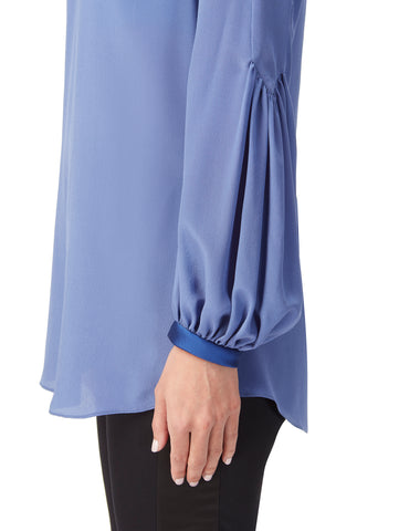 B104_ZINNIA_Storm Blue Cavalier Sleeves Blouse