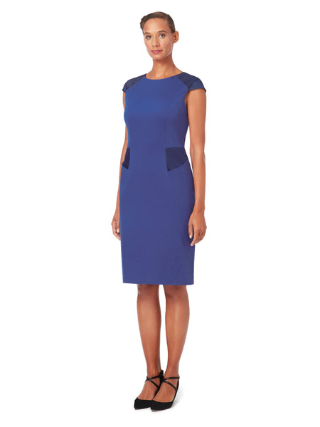 D018_LOTUS_Cap-Sleeve Sheath Dress