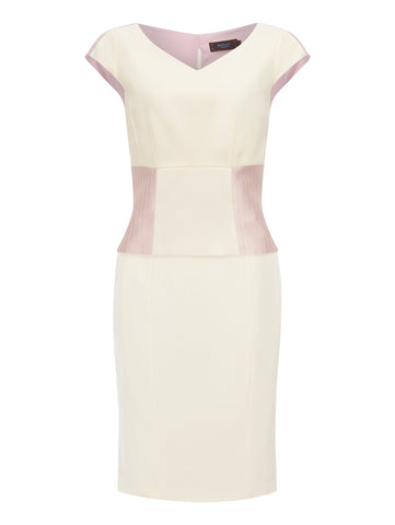 D030B_PETAL_Fitted 3-way Dress_Ivory