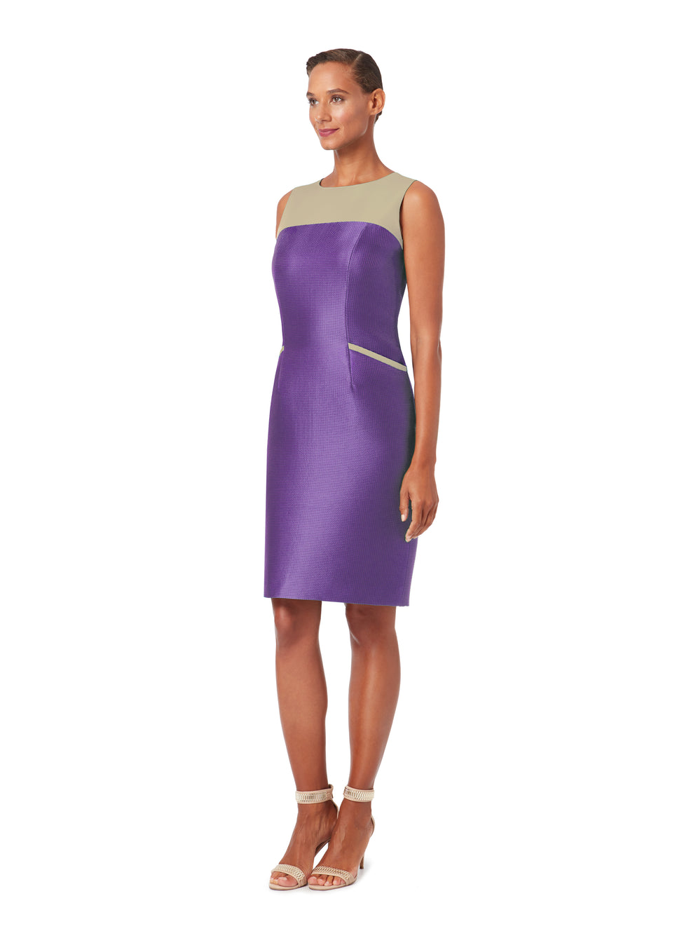 D072 _ STAR _ Scoop-Neck Cocktail Dress _ Prism Purple