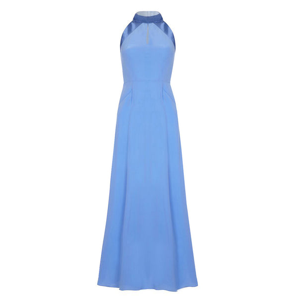 D076 _ CASCADE _ Silk Maxi Dress