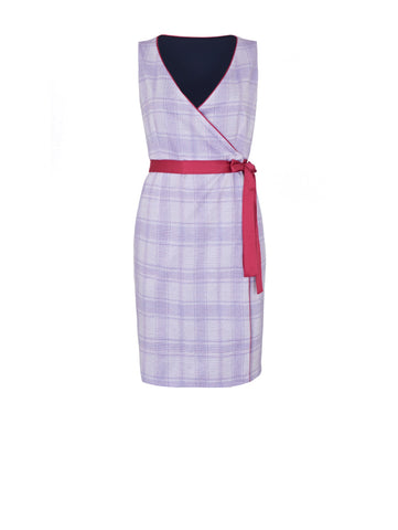 D102_Vanda Reversible Wrap Dress_Lilac Mix