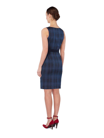 D102 _ VANDA _ Reversible Wrap Dress _ Navy Mix