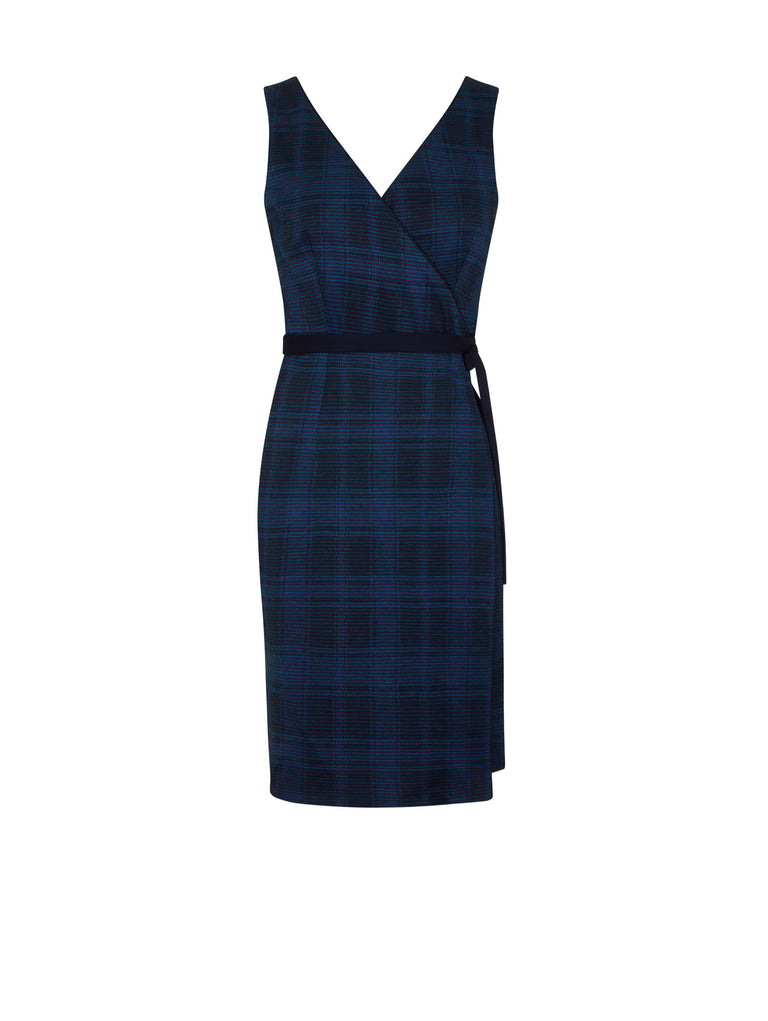 D102_Vanda Reversible Wrap Dress_Navy Mix