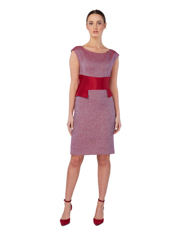 D143B _ NEEM _ Tailored Dress _ Cerise