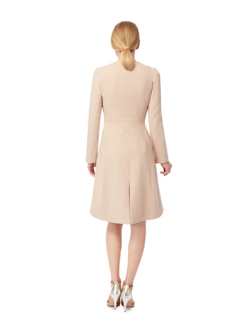 J006B _ DORIC _ Fine-Tailored Coat Dress _ Truffle