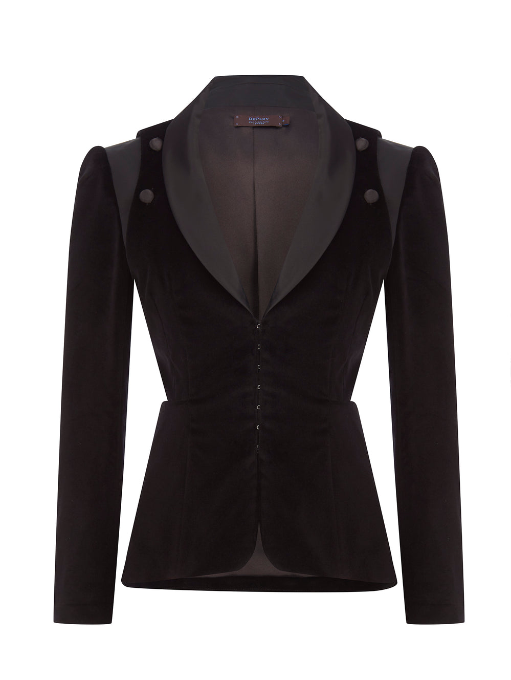 J010_CHRYSALIS_3-Way Smoking Jacket_Black