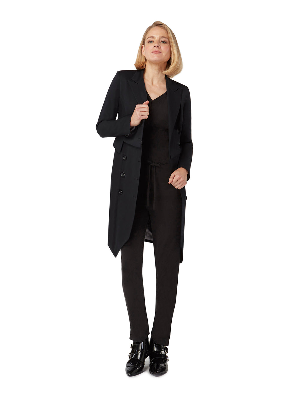 J027L _ ABACUS _ Multiway Suiting Coat-Dress