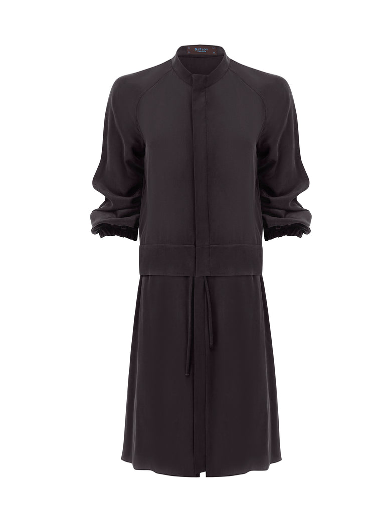 J063B _ FLUME _ Multi-Way Dust-Coat Dress _ Black