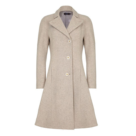 J100 _ JEANETTE _ A-Line Tweed Coat
