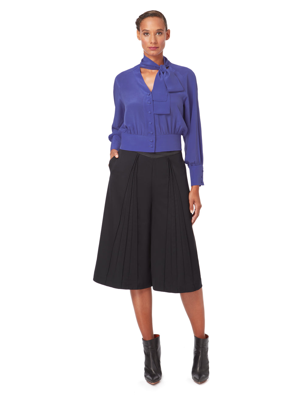 S014_FORMERET_Pin-Tuck Culottes