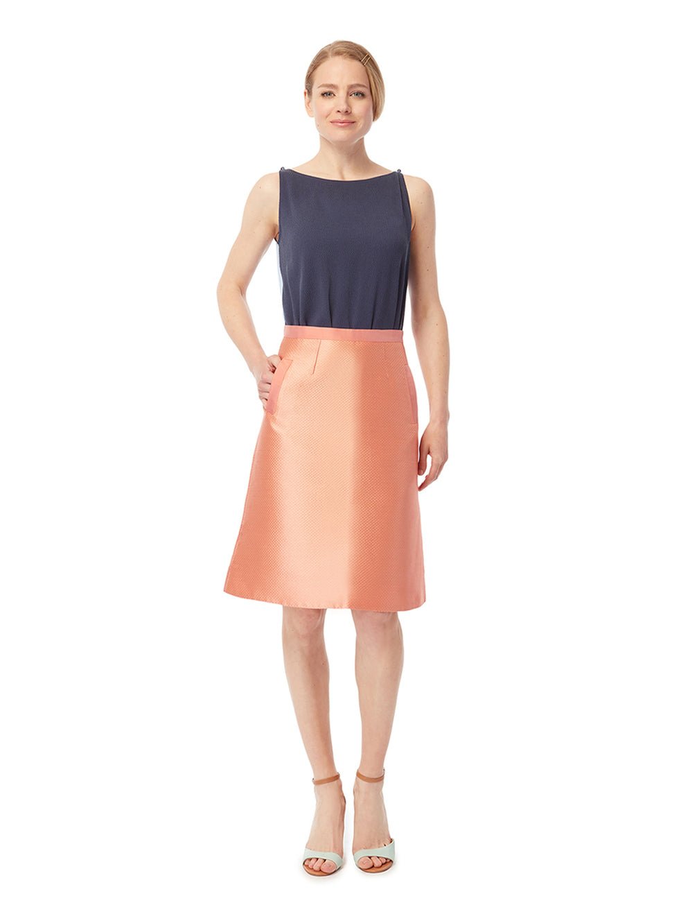 S037 _ CALA _ High-Waist A-Line Skirt