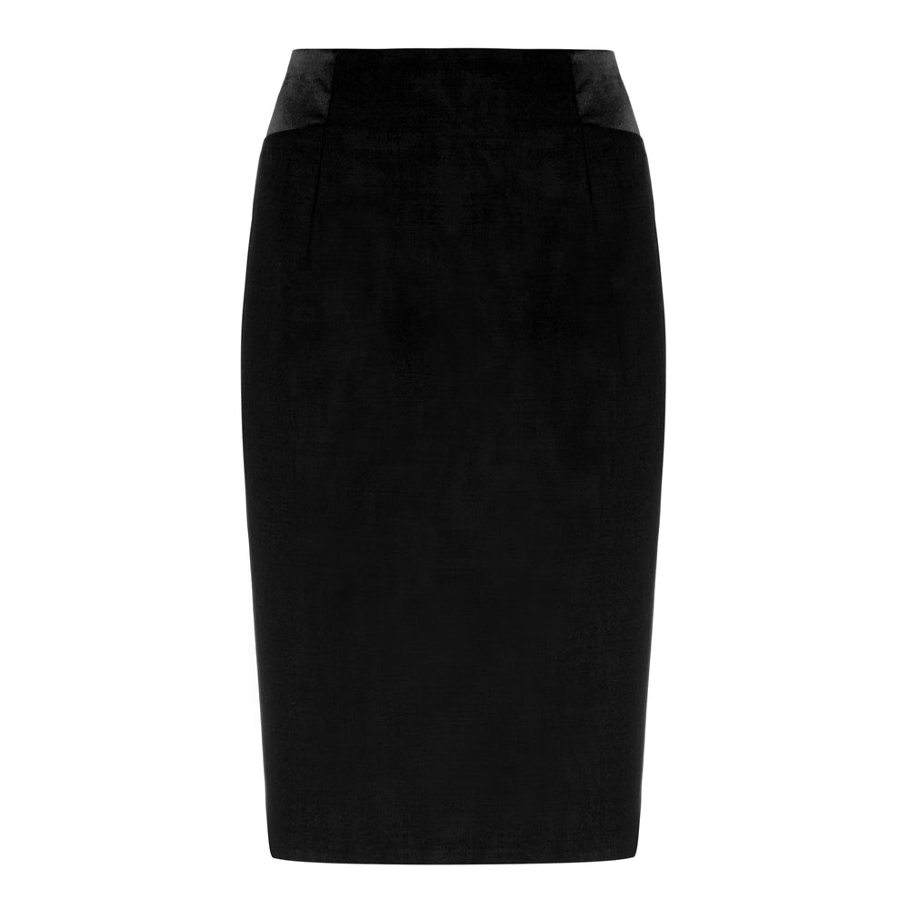 S053B_ COLUMN _ Classic Tailored Pencil Skirt