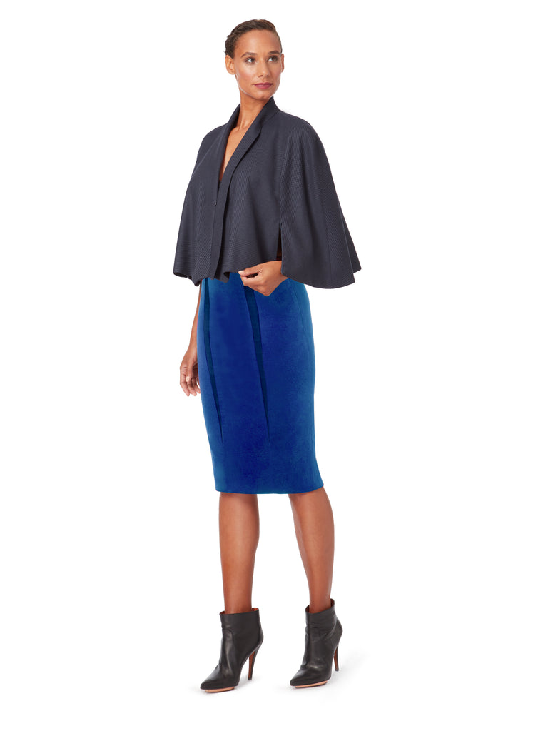 C016_INDIGO_Zip Lapel Cape