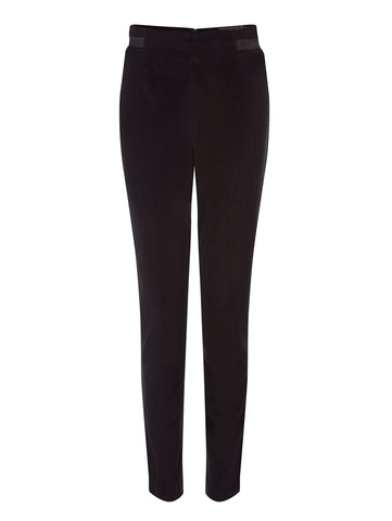 T023 _ BUD _ High-Waist Velvet Trousers _ Black