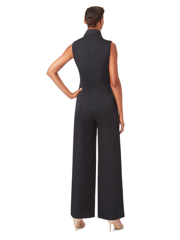 T027_LANCET_Sleeveless Tux-Jumpsuit