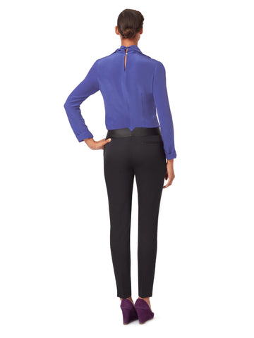 T033 _ OBELISK _ Slim-Legged Tailored Trousers