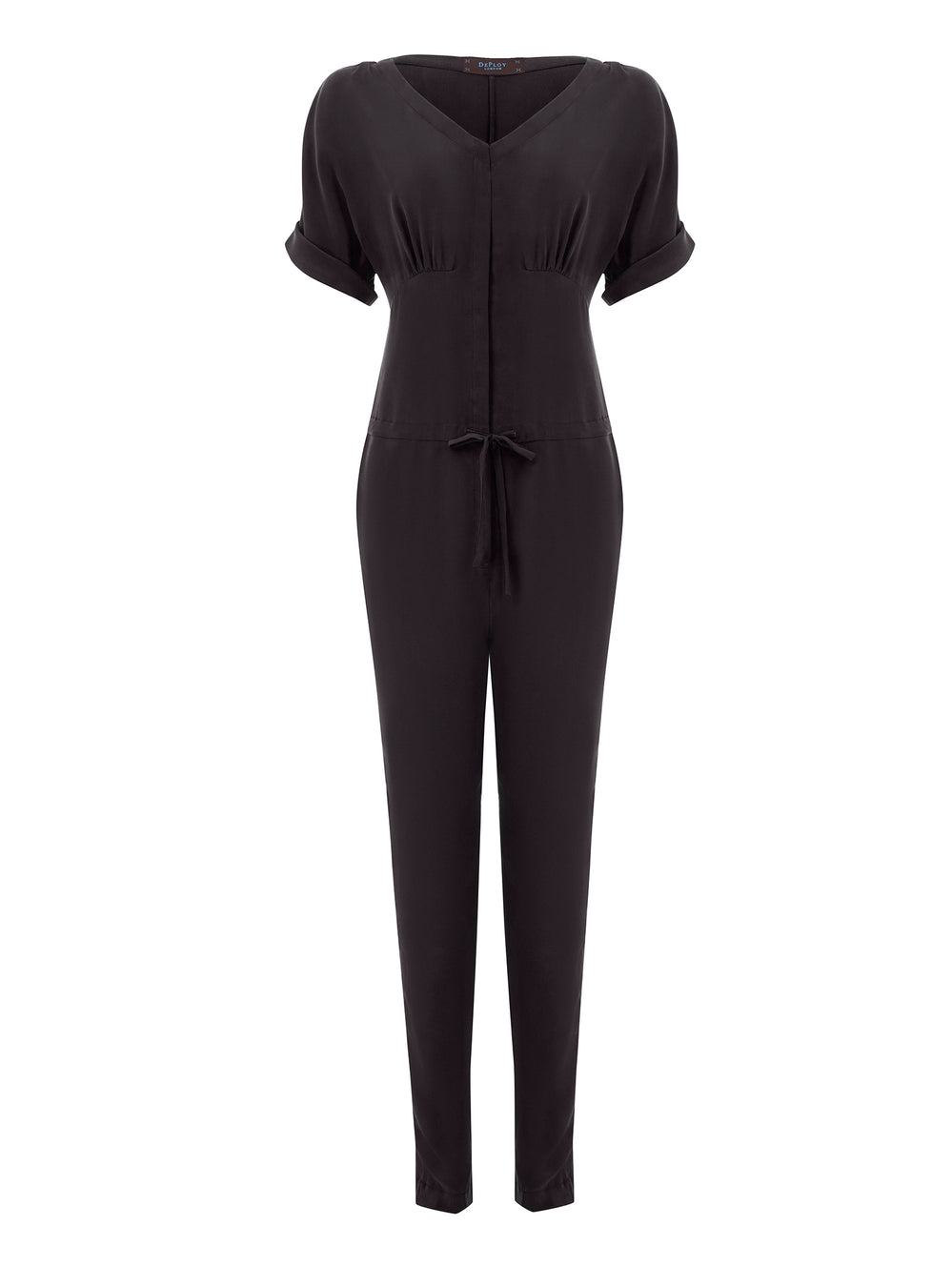 T040C_ACER_Sand-Washed Silk Jumpsuit_Classic Black