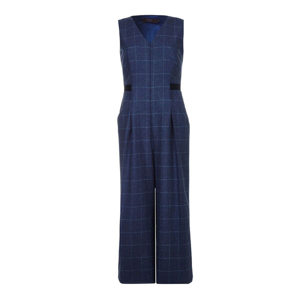 T043 _ TINA _ Wool Check Tailored Jumpsuit