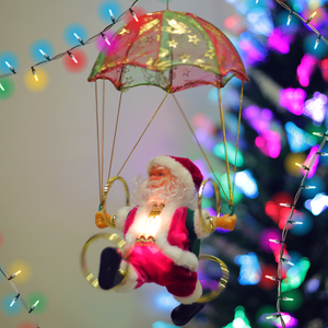 MUSICAL CIRCUS SANTA CLAUS DECORATION