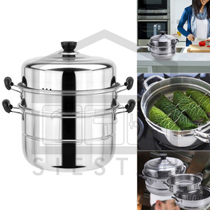 (SIESTAH) STAINLESS STEAMER POT (3pcs Set)