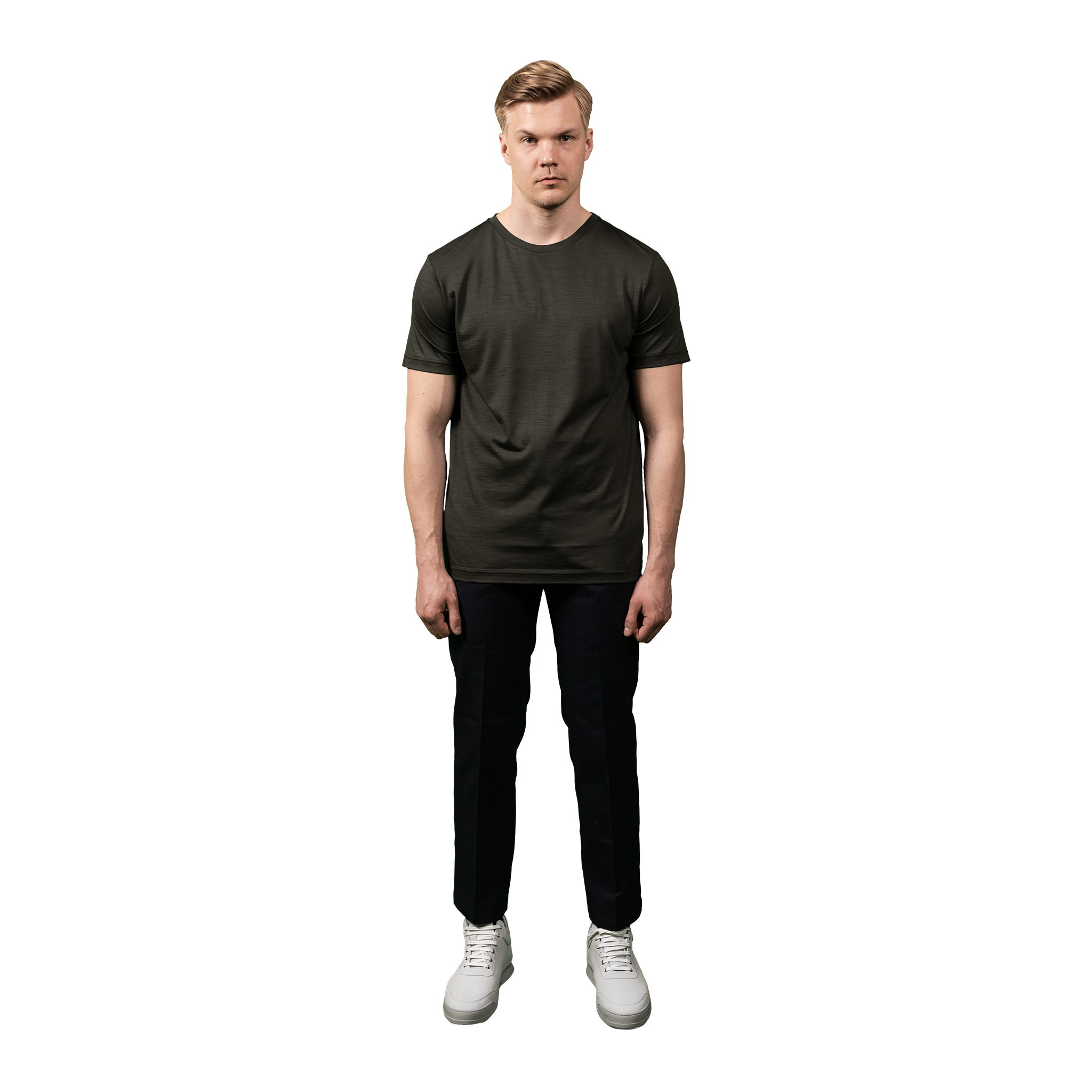 Midweight Ultrafine Merino T-Shirt | Army
