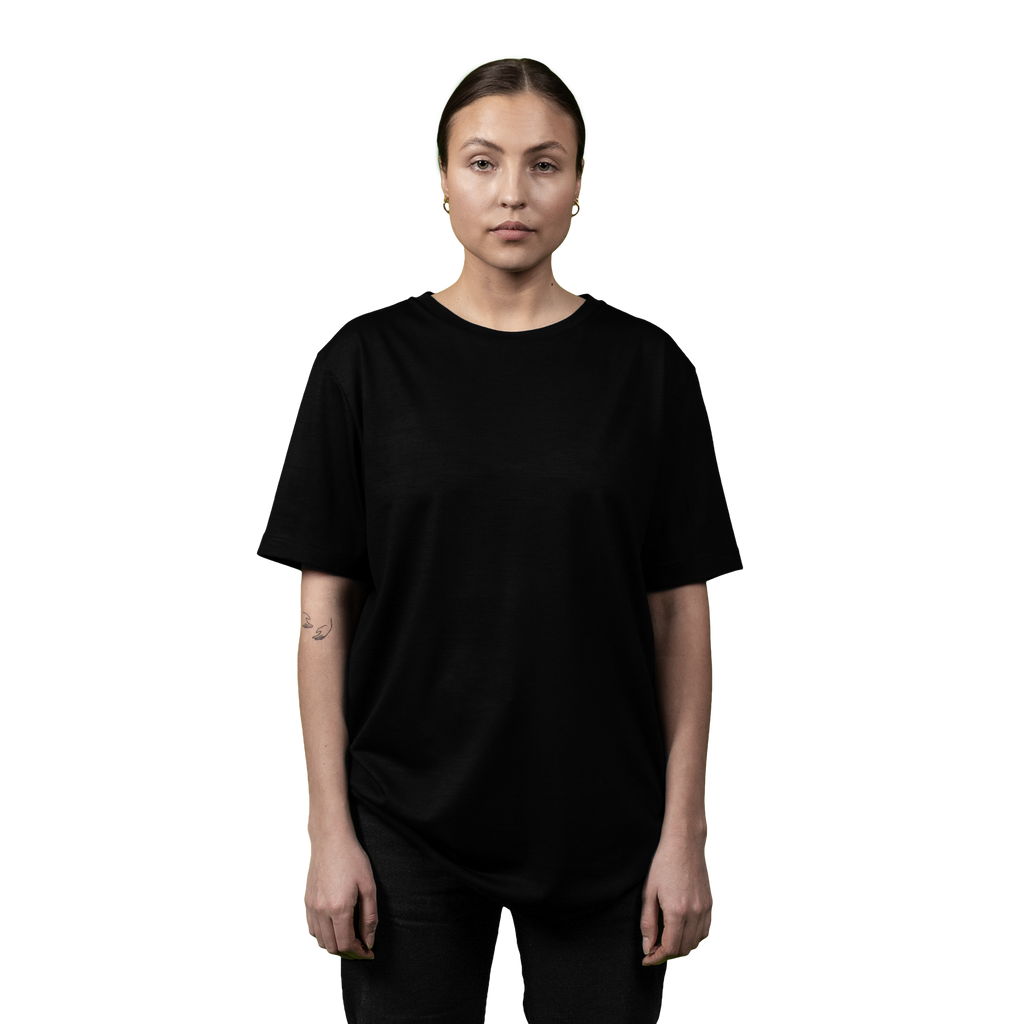 Heavyweight Ultrafine Merino T-Shirt | Black