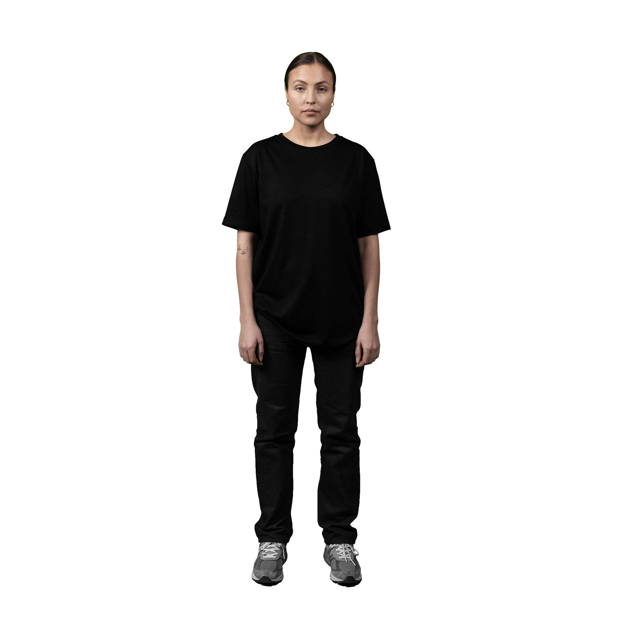 Heavyweight Ultrafine Merino T--Shirt | Black