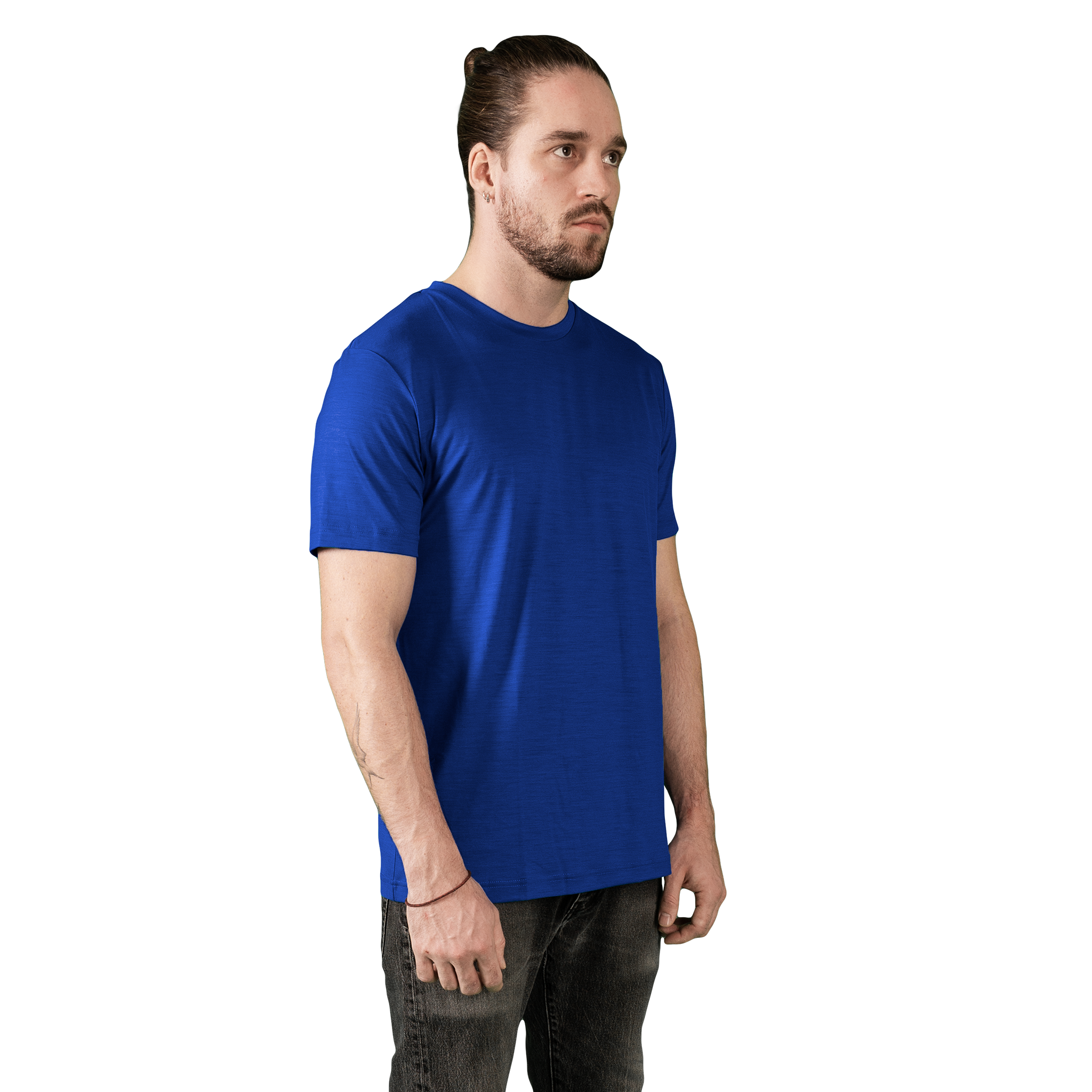 Heavyweight Ultrafine Merino T-Shirt | Electric Blue