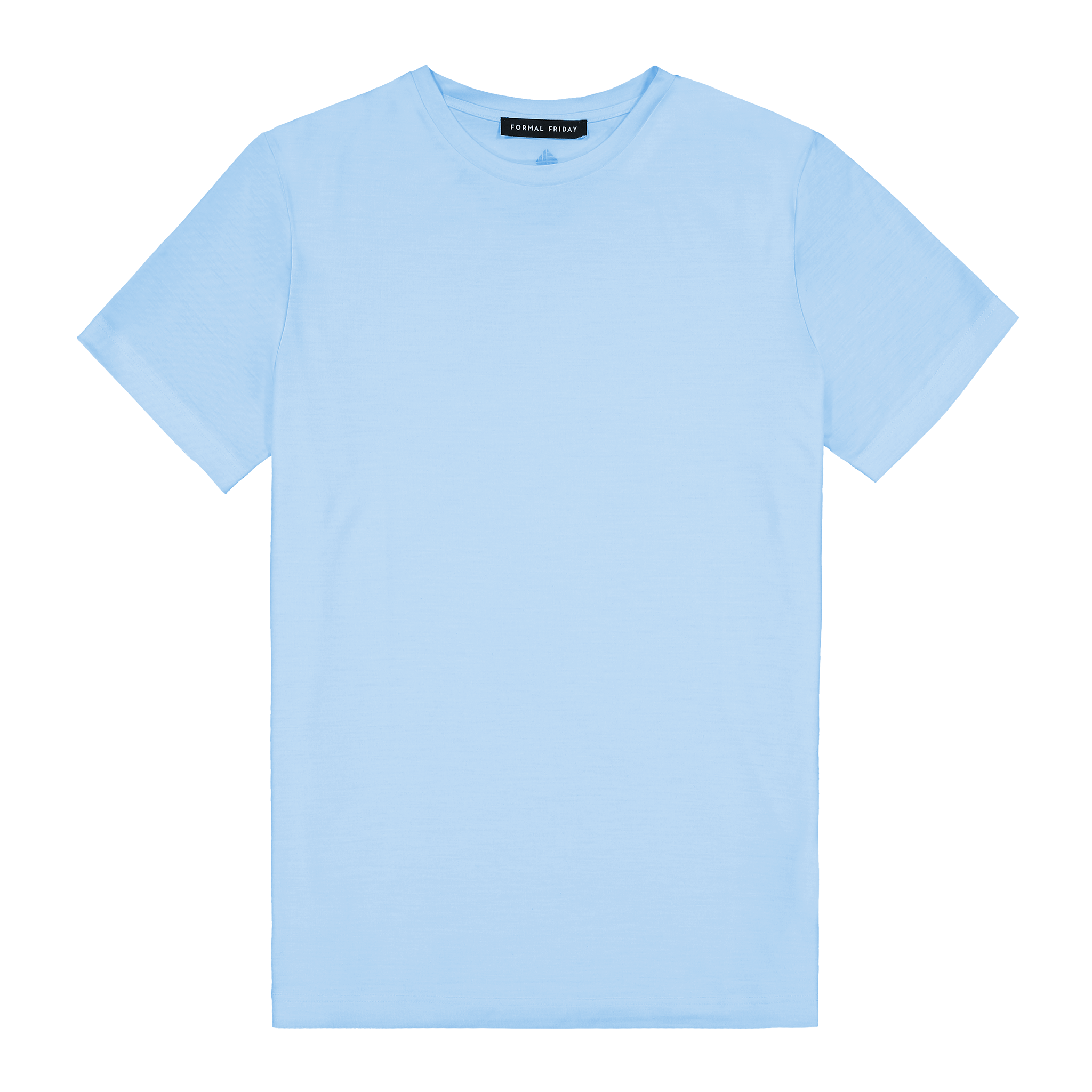 Heavyweight Ultrafine Merino T--Shirt | Light Blue