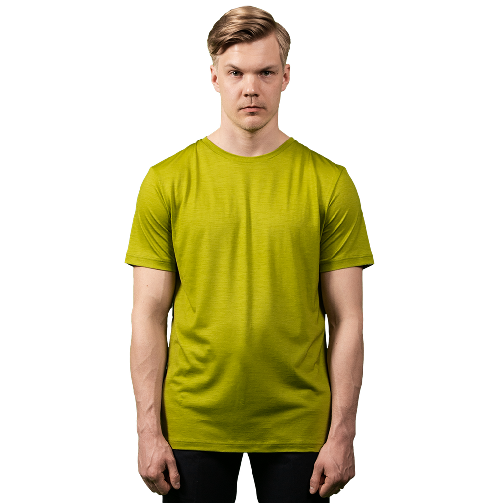 Midweight Ultrafine Merino T-Shirt | Lime