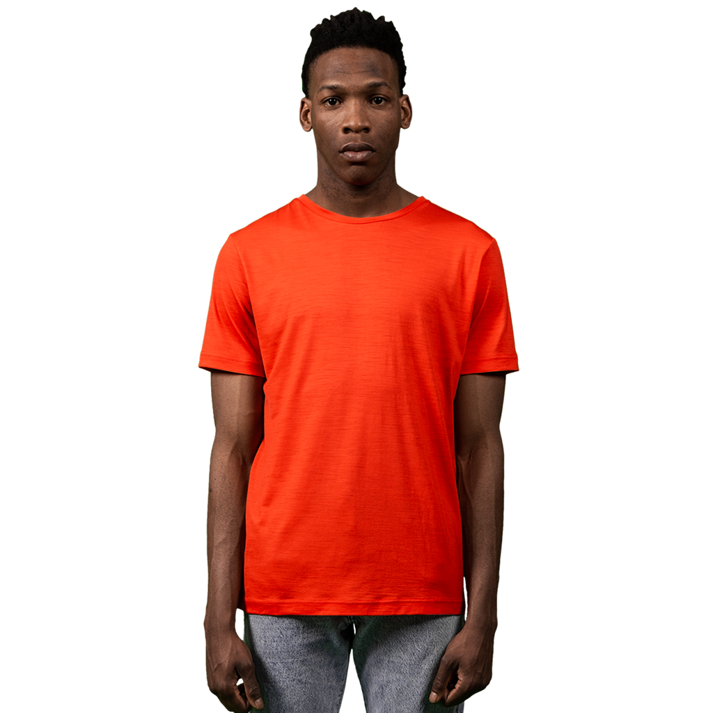Midweight Ultrafine Merino T-Shirt | Orange