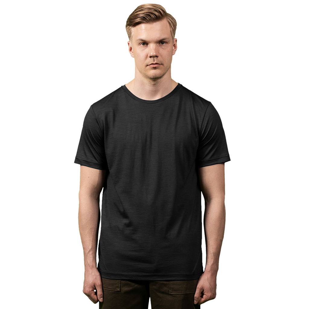 Midweight Ultrafine Merino T-Shirt | Steel