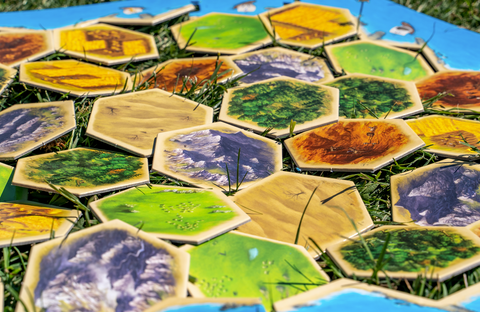 Image of Hexyboard works with Catan game