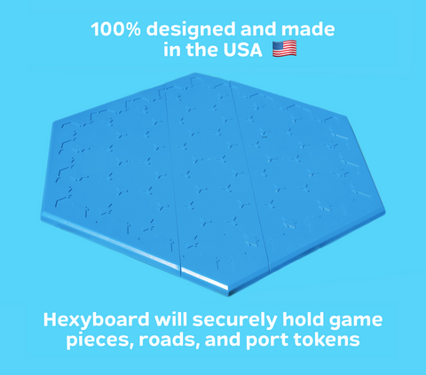 HexyBoard | Rigid Plastic Board designed for Catan game