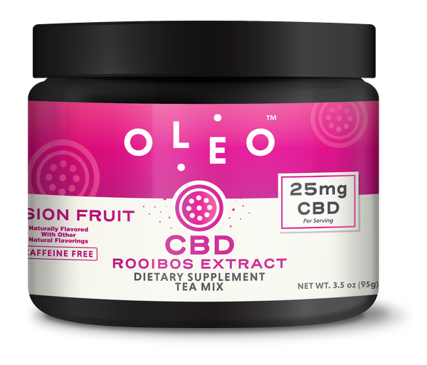 Oleo  Passion Fruit CBD Tea Mix (10 Serving Jar)