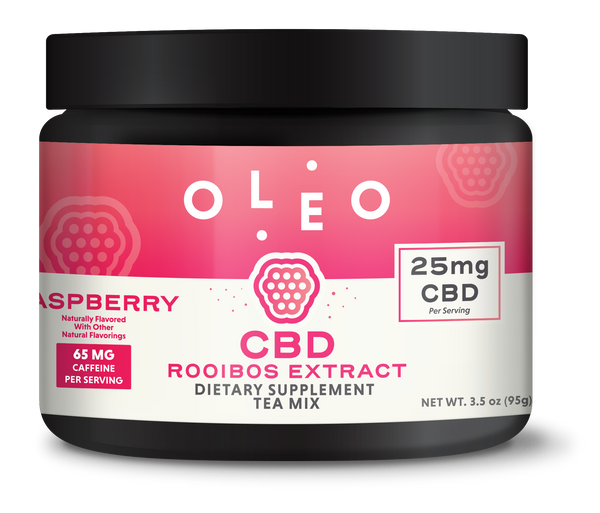 OLEO - CBD Raspberry Tea Mix (10 Serving Jar)