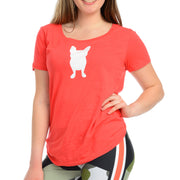 Frenchie semi sheer T-Shirt