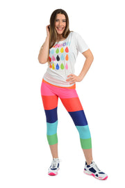 Rainbow Raindrops - Light weight Short sleeve Semi Sheer  T-Shirt