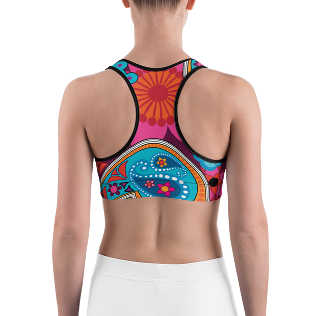 Raj All Over Print Sports bra