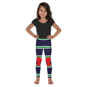 Italia Stripe Red Monkey Kid's Leggings