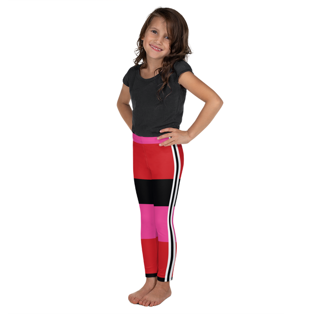 Riviera Stripe Kid's Leggings Pink