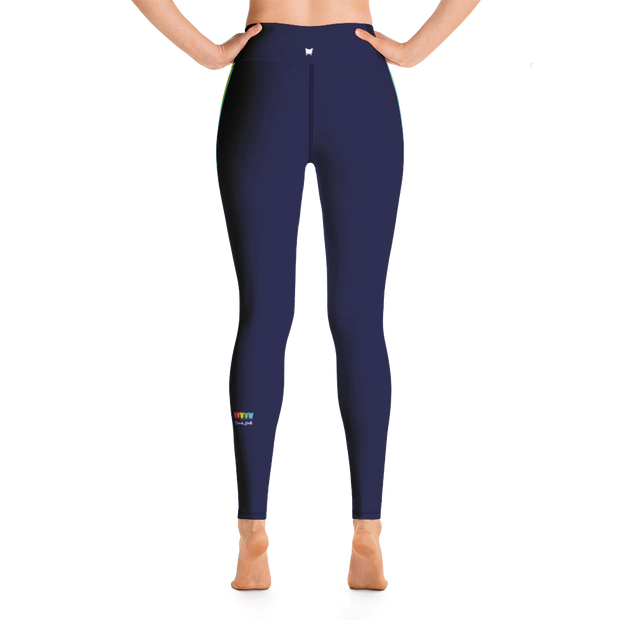 Rainbow side-stripe Yoga Leggings - Royale