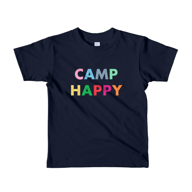 Camp Happy Kids Fine Jersey Short Sleeve T-Shirt