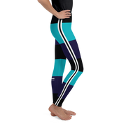 Riviera Stripe Turquoise Girl's Leggings