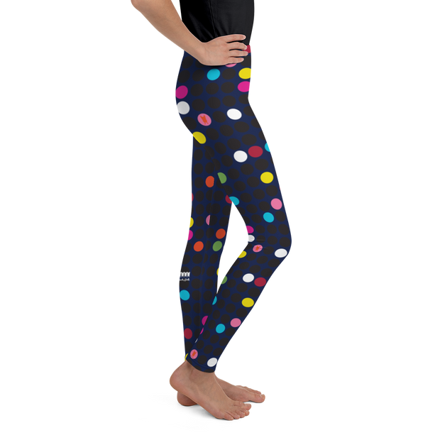 Dotty Night Girl's Leggings